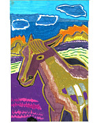 Paint Horse Mixed Media Posters - Indian Pony Poster by Don Koester