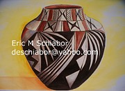 Clay Drawings Metal Prints - Indian Pottery Metal Print by Eric  Schiabor