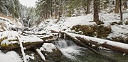 Tim Grams Acrylic Prints - Indian River Falls in Winter Acrylic Print by Tim Grams