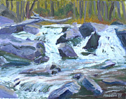 Philadelphia Painting Prints - Indian River NY Rapids Print by Robert P Hedden