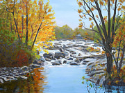 Philadelphia Scene Paintings - Indian River  Rapids Philadelphia NY by Robert P Hedden