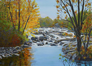 Philadelphia Scene Paintings - Indian River Rapids by Robert P Hedden