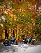 Ural Posters - Indian Scout and M72 sidecar Poster by Raluca Serdaru