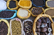 Sacks Framed Prints - Indian spice market Framed Print by Tim Gainey