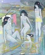 Nudes Painting Prints - Indian Summer Print by Endre Roder