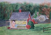 Weathervane Painting Posters - Indian Valley Farm Poster by Rhonda Leonard