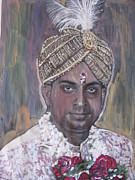 Indian Wedding Paintings - Indian Wedding by Vikram Singh
