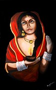 Saranya Haridasan - Indian woman with lamp