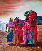 Clothes Clothing Originals - Indian Women by Michel Angelo Rossi