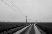 Powerlines Framed Prints - Indiana Backroad  Framed Print by Off The Beaten Path Photography - Andrew Alexander