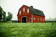 Rural Indiana Photo Prints - Indiana Barn Print by Off The Beaten Path Photography - Andrew Alexander