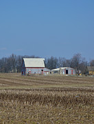 Rural Indiana Prints - Indiana Barns Print by Alys Caviness-Gober