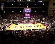 Indiana. Framed Prints - Indiana Hoosiers Assembly Hall Framed Print by Replay Photos
