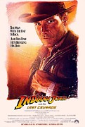 Indiana Art Framed Prints - Indiana Jones and the Last Crusade  Framed Print by Movie Poster Prints