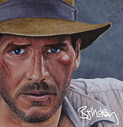 Harrison Painting Originals - Indiana Jones by Barry Mckay