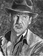 Indiana Drawings Metal Prints - Indiana Jones Metal Print by Christian Conner