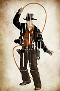 Indiana Metal Prints - Indiana Jones VOL 2 - Harrison Ford Metal Print by Ayse Toyran