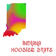Indiana Art Digital Art Posters - Indiana State Map Collection 2 Poster by Andee Photography
