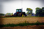 Indiana Autumn Prints - Indiana Tractor Print by Caitlyn Hymer