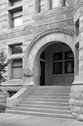 Collegiate Gothic Style Prints - Indiana University Maxwell Hall Entrance Print by University Icons