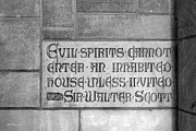 Collegiate Gothic Style Photos - Indiana University Memorial Hall Inscription by University Icons
