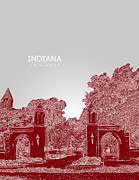 Fraternity Digital Art Prints - Indiana University Sample Gate Print by Myke Huynh