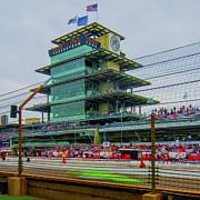 Morning Race Prints - Indianapolis 500 May 2013 Square Print by David Haskett