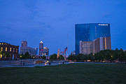 White River Photos - Indianapolis Blue Hour Skyline by David Haskett