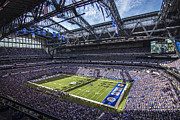Pro Football Metal Prints - Indianapolis Colts 3 Metal Print by David Haskett