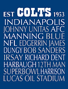 Subway Art Art - Indianapolis Colts by Jaime Friedman