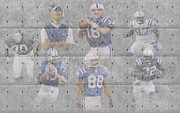Colts Prints - Indianapolis Colts Legends Print by Joe Hamilton