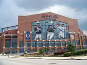 Colts Prints - Indianapolis Colts Lucas Oil Stadium Print by Joe Hamilton