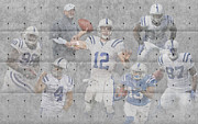 Colts Prints - Indianapolis Colts Team Print by Joe Hamilton