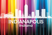 Iconic Design Mixed Media Prints - Indianapolis IN 2 Print by Angelina Vick
