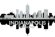 Iconic Design Mixed Media Prints - Indianapolis IN 4 Print by Angelina Vick