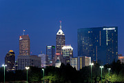 Indiana Scenes Photos - Indianapolis Indiana Downtown Skyline by Bill Cobb
