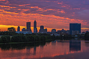 White River Prints - Indianapolis Indiana Skyline Zulu Print by David Haskett
