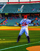 Victory Field Metal Prints - Indianapolis Indians Catcher Metal Print by David Haskett