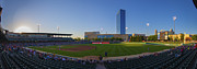 Morning Race Prints - Indianapolis Indians Panoramic 1 Print by David Haskett