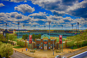 Baseball Paint Prints - Indianapolis Indians Victory Field Print by David PixelParable