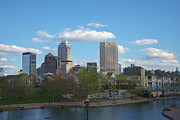 Indy Photos - Indianapolis Skyline Blue 2 by David Haskett