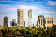 Indiana Trees Prints - Indianapolis Skyline Picture Print by Paul Velgos