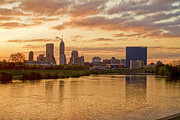 Jw Marriott Prints - Indianapolis Sunrise Print by David Haskett