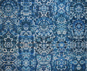Tie Dye Tapestries - Textiles Metal Prints - Indigo Dream Metal Print by Courtenay Pollock