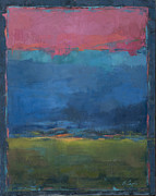 Rothko Painting Originals - Indigo Horizon by Bonnie Cazier