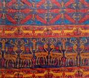 Animal Tapestries - Textiles Metal Prints - Indonesian Metal Print by Aditi Bhatt
