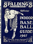Baseball Digital Art Posters - Indoor Base Ball Guide 1907 Poster by American Sports Publishing