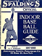 Baseball Digital Art Posters - Indoor Base Ball Guide 1907 II Poster by American Sports Publishing