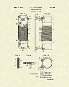 Electrical Device Framed Prints - Inductor 1932 Patent Art Framed Print by Prior Art Design