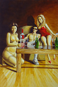 Beer Oil Paintings - Indulgence by Juan Pablo Ruiz